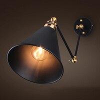 Louis Poulsen Luce E27 Placcato Scone Loft American Retro Vintage Lampada Da Parete In Ferro 110 v-220 v 40 w antico Lampada Da Parete Industriale