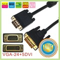 VGA  to DVI 24+5 cable monitor cable 1.5m