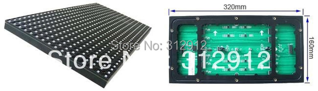 Smd P10 rgb ( 3em1 ) full color interior bordo unidade de tela led, 32 * 16 pixels, 320 mm * 160 mm