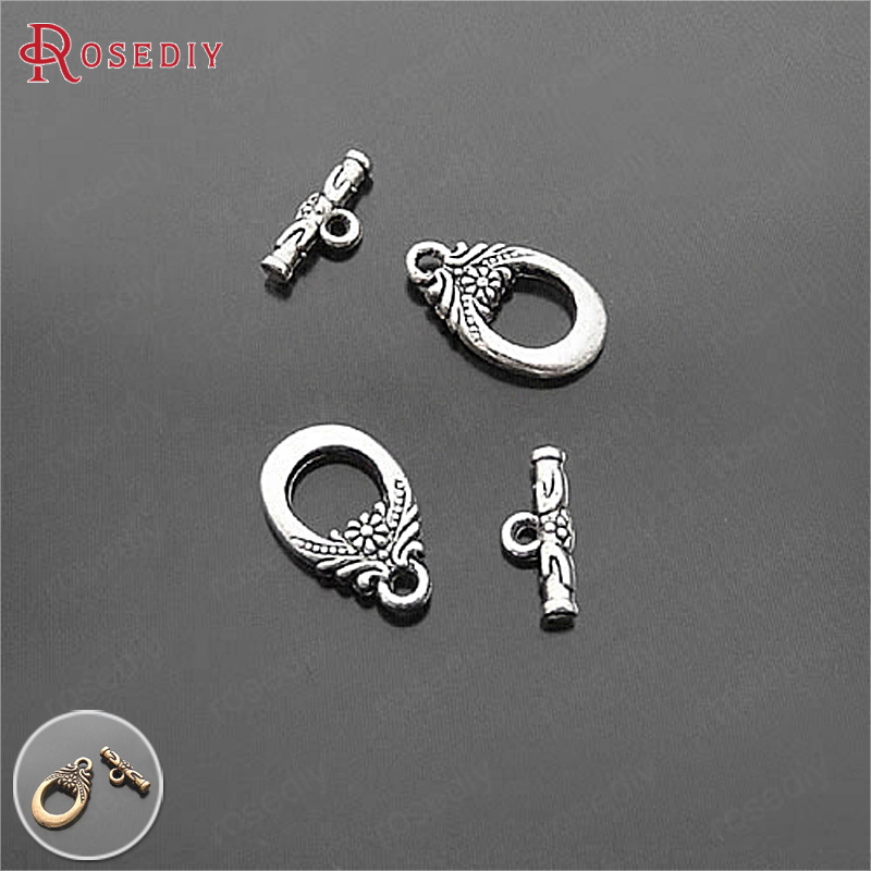 15Set Antique Gold Small twisted round Toggle Clasps-Wholesale Prices