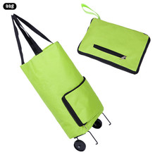 AAG Portable Waterproof Oxford Fabric Trolley Grocery Shopping Bag Fashion luxury folding shopping cart car luggage tug bag