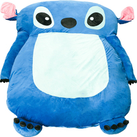 Plush Cute Cartoon Lilo and Stitch Image Sleeping Bag Sofa Bed Twin Bed Double Bed Mattress for Kids/Adult Beanbag For Living