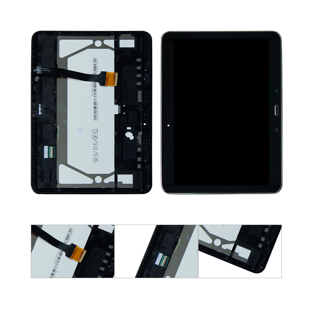 For Samsung Galaxy Tab 4 10.1 SM-T530 LCD Display Touch Screen Digitizer Assembly Replacement With Frame for samsung galaxy j5 j500 lcd display with touch screen digitizer assembly with frame blue gold tools free shipping