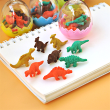 Hot Sale Students Stationary Gift Novelty Dinosaur Egg Pencil Rubber Eraser For Kids Gift Korean Stationery