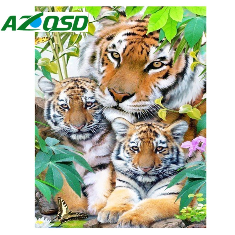 Happy Tiger Family Diamond...