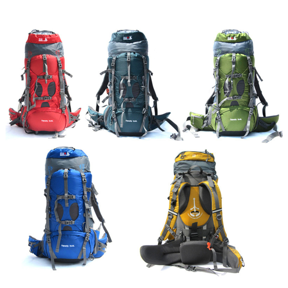 New 75L Camping Bags Backpack shop online Professional Hiking Backpack Unisex Outdoor Rucksacks sports bag free shipping