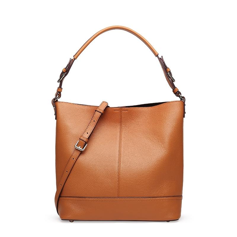 LUODUN2018 damer Äkta läder väska nya handväskor mode enkel - Handväskor - Foto 2