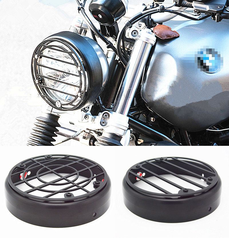 Aluminum Motorcycle headlight protective cover for BMW PURE R Nine T