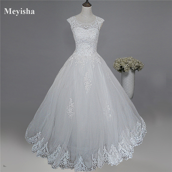52fad545dc1 US  86.39. ZJ9128 2019 new style fashion White Ivory Wedding Dresses for brides  plus size maxi formal sweetheart with lace edge