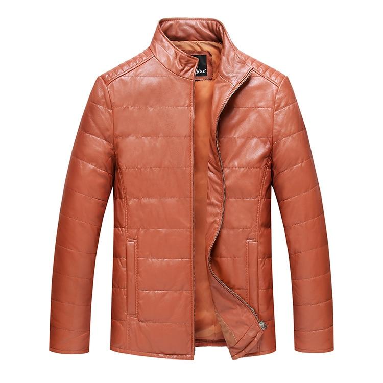 Analytisch 2017 Winter Mode Für Männer Ente Daunenmantel Echte Echtem Schaffell Leder Jacken Stehkragen Schwarz Orange Plus Größe 2xl 3xl Xxxl Knitterfestigkeit Edler Schmuck
