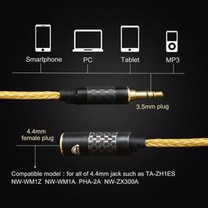 Image 5 - 고품질 헤드폰 전송 와이어 6 코어 이어폰 어댑터 4.4mm 여성 3.5mm 남성 소니 dmpz1 zx300a A 35 pha2a 아이폰에 대 한