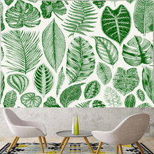 Nordic Style tropic green leaf Tapestry fresh style plant kids room Tapestries summer flower Wall Hanging home decor
