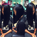 Malaysian Straight Hair Glueless Full Lace Human Hair Wigs For Black Women Maylaysian Lace Front Human Hair Wigs with Baby Hair