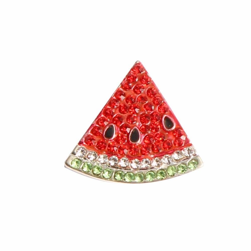 Lot de 10 pièces de boutons de strass coloré | Assortiment de 20x27mm, embellissement de boutons de strass fruits flatback pastèque (), livraison gratuite