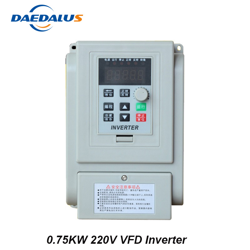 цена на Mini VFD Variable Frequency Drive 0.75KW 220V VFD Inverter AC Converter For Motor Speed Control