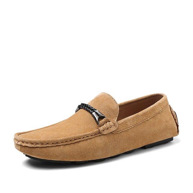 TANTU Người Đàn Ông Giày da Chính Hãng Thoải Mái Người Đàn Ông Giản Dị Giày Dép Giày Dép Chaussures Căn Hộ Người Đàn Ông Trượt Trên Đôi Giày Lười