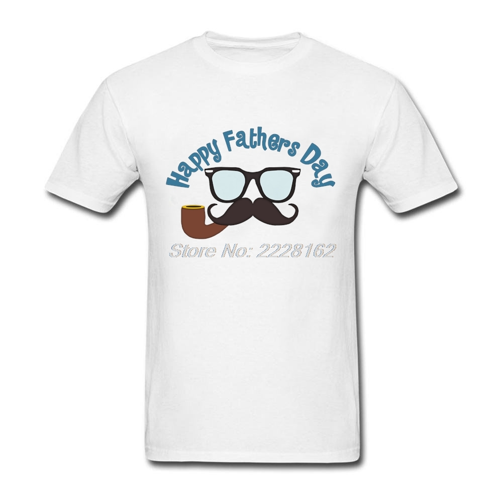 Adult Man Short Formal T Shirt Websites Mustache tshirt with Happy Fathers Day Gift Mens Trendy Apparel Artwork Tee Shirts