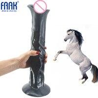 FAAK бренд огромный лошадиный фаллоимитатор супер большой длинный присоске фаллоимитатор реалистичные искусственные анальный фаллоимитато...