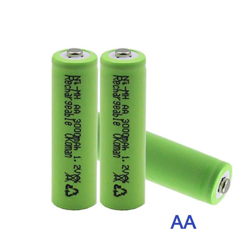 1,2 V 3000mAh NI MH AA baterías recargables + AAA batería 1800 mAh batería recargable NI-MH 1,2 V AAA batería