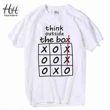 HanHent think outside the box T shirts Creative Cotton Summer Mens Tee Shirts Bodybuilding 2018 Streetwear