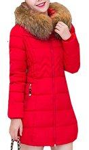 YLnini Женщины Зиму с Меховым Капюшоном Куртки