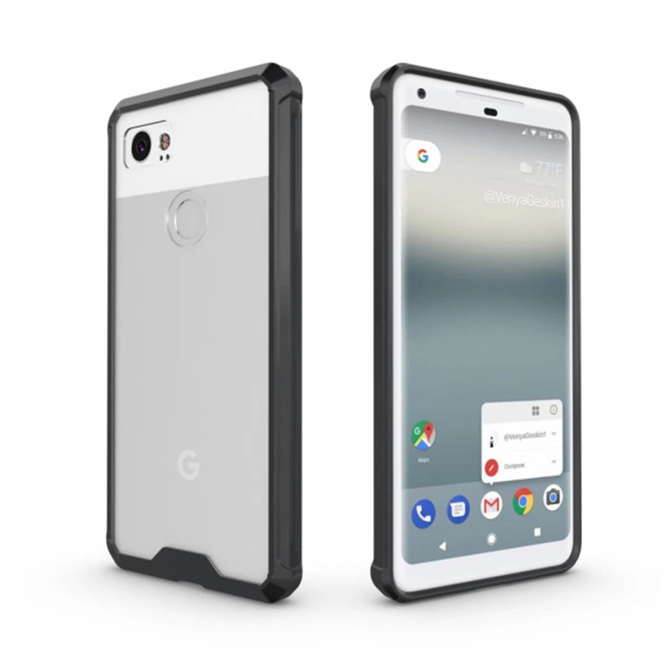 For Google Pixel 1 2 3 XL Hard Hybrid Acrylic Crystal Case Transparent Bumper Full Protection Cover Coque