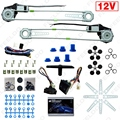 Universal Front 2-Doors Car Auto Electric Power Window Kits with Set Switches and Harness #FD-905