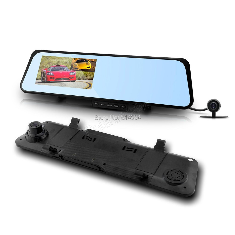 ФОТО BEST 6000C Car Rearview Mirror Camera Video Recorder Car DVR Dual lens Full HD 1080P Camcorder Dash Cam G-Senor Night Vision