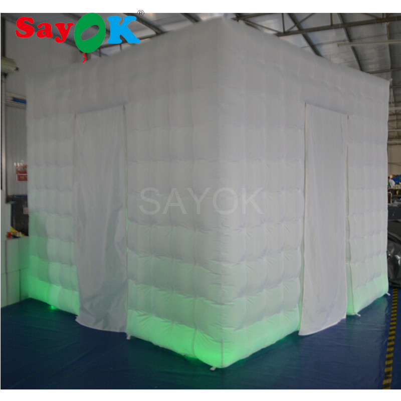 Sayok 3x3x2.4m Inflatable Photo Booth Enclosure Portable Photo Booth Frame Tent with 17  ...