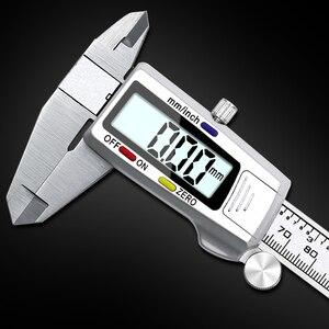 6-дюймовый 150 мм Цифровой штангенциркуль из нержавеющей стали электронный цифровой штангенциркуль металлический микрометр измерительный инструмент штангенциркуль