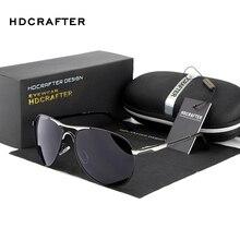 New Brand Polarized Sunglasses Men Classic Retro Pilot Glasses Black Polaroid Lenses Driving Eyewear Pilot Sunglasses UV 400
