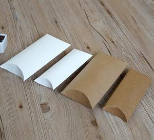 Image 2 - 30 pces travesseiro caixa de papel kraft, papelão artesanal caixa de sabão, branco ofício caixa de presente de papel, festa embalagem caixa de jóias