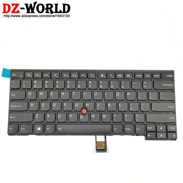 ใหม่/Orig US ภาษาอังกฤษแป้นพิมพ์ Backlight Backlit สำหรับ Thinkpad T431S T440 T440P T440S T450 T450S T460 04X0101 04X0139 0C43906