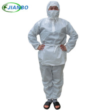 Disposable Smocks Thicker SMS Painting Food Workshop Laboratory Waterproof Pesticide Chemical White Split Protective Clothing