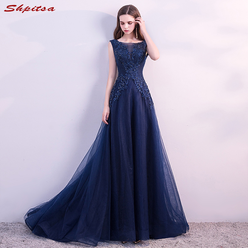 Navy Blue Mother Of The Bride Dresses For Weddings Beaded A Line Evening Gowns Groom Godmother Dresses