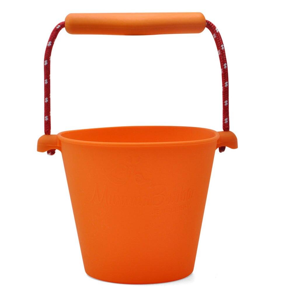 Пляжный набор игрушек для детей силиконовые складные Ручные игры песочный баррель детские игрушки для малышей душевая Ванна игрушка песочные водяные игрушки - Цвет: orange