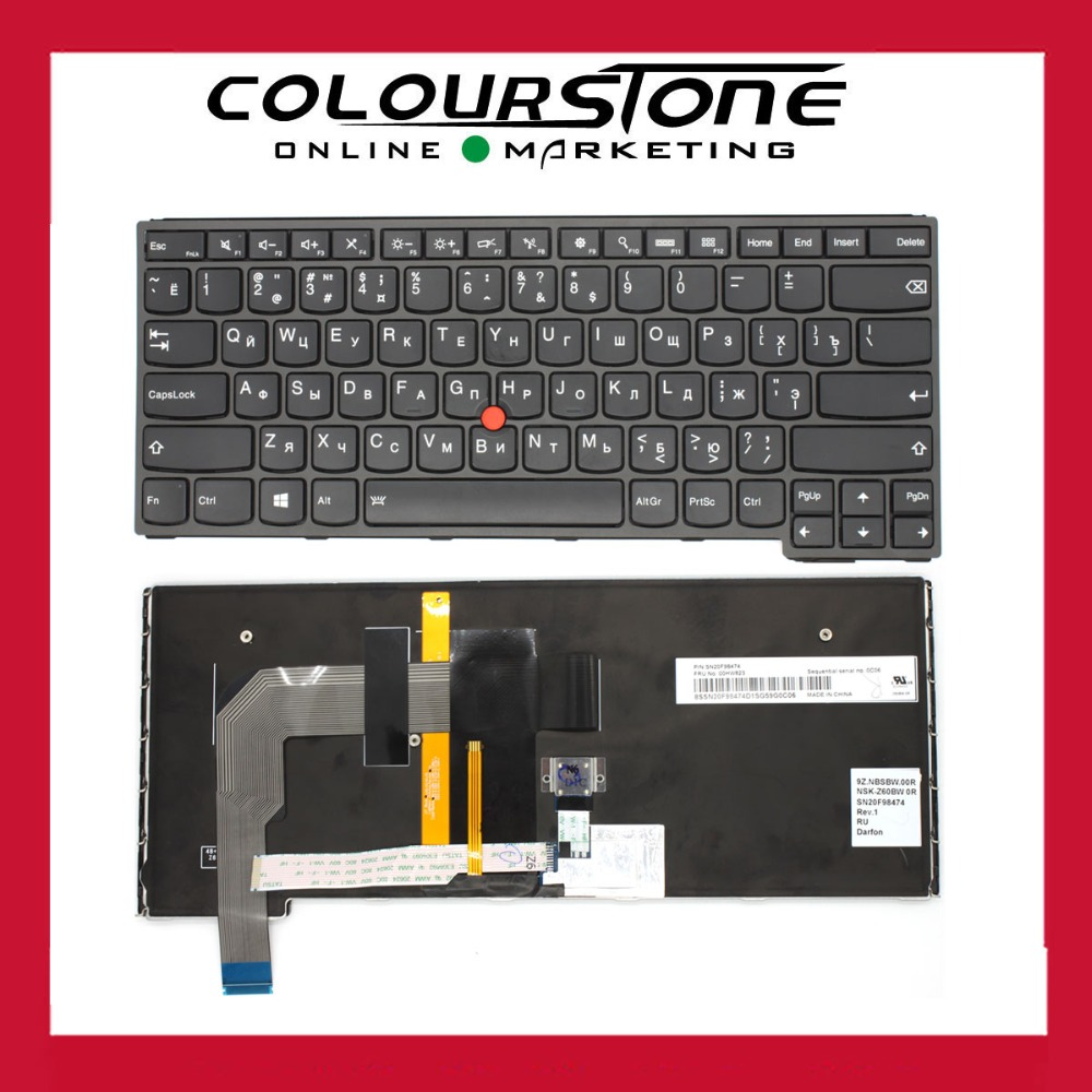 Original laptop backlit keyboard for Lenovo Thinkpad S3 Yoga 14 RU Black with frame and Red point stick Russian keyboard new russian keyboard for lenovo thinkpad yoga 4 pro yoga 900 backlit ru laptop keyboard