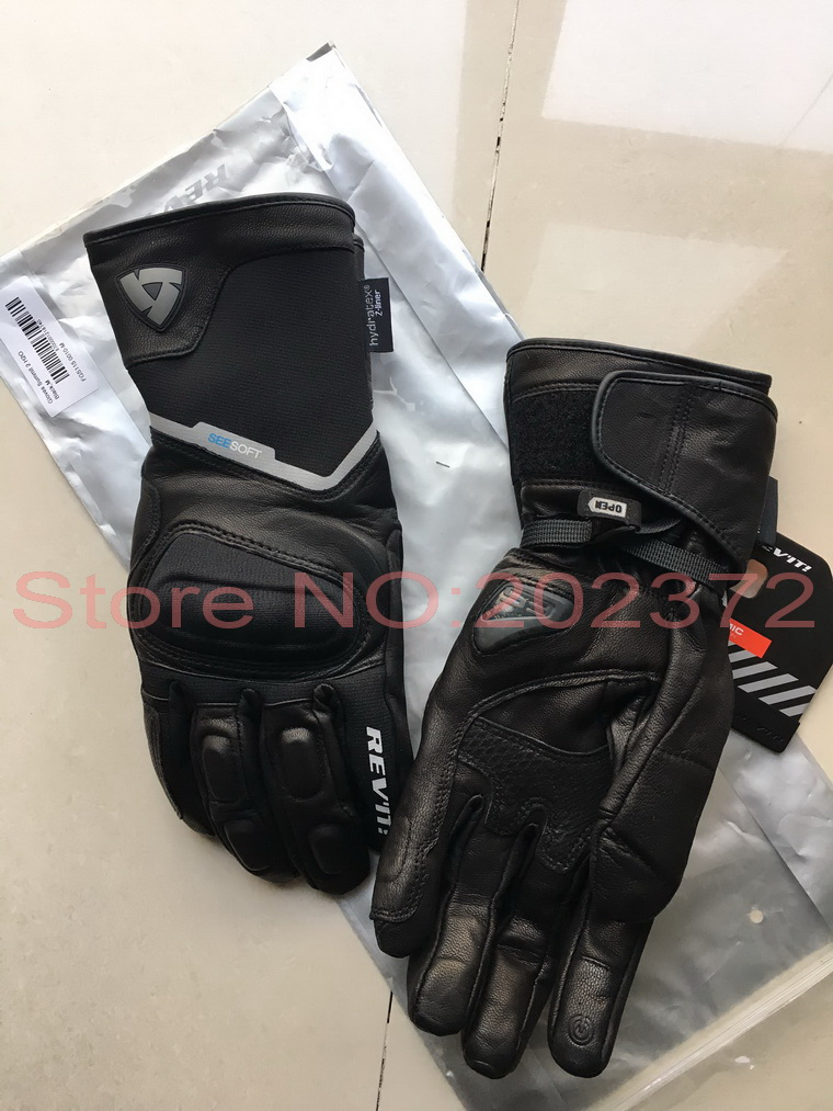 2017 New waterproof windproof REVIT Summit 2 H2O motorcycle gloves leather Rev'it! SUMMIT H2O motorbike riding glove Smit summit 2 sb r