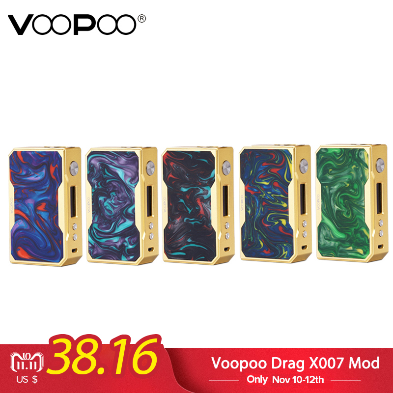 electronic cigarette Original Voopoo Drag X007 Box Mod 510 Thread Vape Mod Powered By 18650 Battery Fit E Cigarette Vaper Vapor original ijoy captain pd270 box mod e cigarette vape 234w ni ti ss tc vapor power by dual 20700 battery new colors