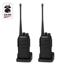 2PCS Radioddity GA-2S Tvåvägs Radio UHF 400-470MHz 16 CH Uppladdningsbart VOX Long Range Walkie Talkies med USB-laddare + hörsel