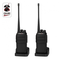 2PCS Radioddity GA 2S Two Way Radio UHF 400 470MHz 16 CH Rechargeable VOX Long Range Walkie Talkies with USB Charger + Earpiece