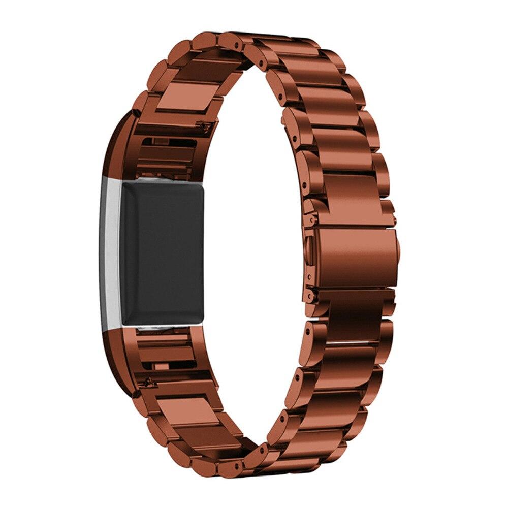 LNOP In Acciaio Inox cinturino di vigilanza per Fitbit Carica 2 Della Fascia Del Braccialetto Fitbit sostituzione Charge2 wristband Smart tracker Wristband