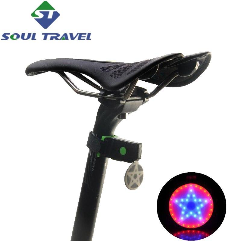 Soul Travel Seatpost Led Rear Bike Light Accessories Usb Battery Charging Waterproof Lamp Bicycle Comet Lights Bicicleta Hot