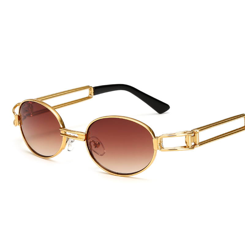b74c38fdb45d25 2017 Hip Hop Rétro Petites lunettes de Soleil Rondes Femmes Vintage  Steampunk lunettes de Soleil Hommes Or Lunettes de soleil pour femmes Cadre  Lunettes ...