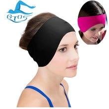 Gtos ajustável feminino crianças orelha banda capa para natação plugues de ouvido da criança cabeça banda protetor neoprene