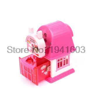 2017 1 Pcs Deli 0615 kids cute cosmetic hand manul house pencil sharpeners mechanical machine 1pc / brand stationery supplies new arrival deli sweet house children pencil sharpeners 0724 cute cartoon students mechanical pencils writing supplies blue
