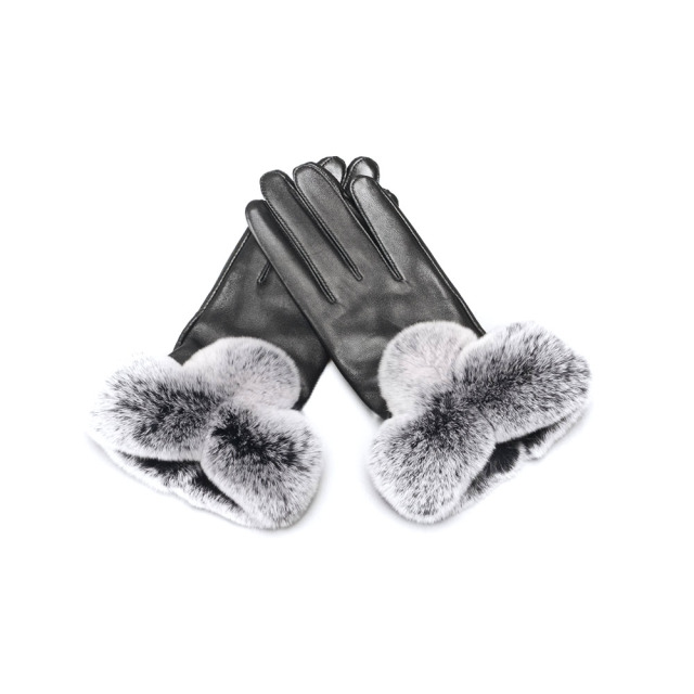 Jancoco Max Touch Screen Gloves Genuine Sheepskin Leather With Rabbit Fur Winter Warm S2037
