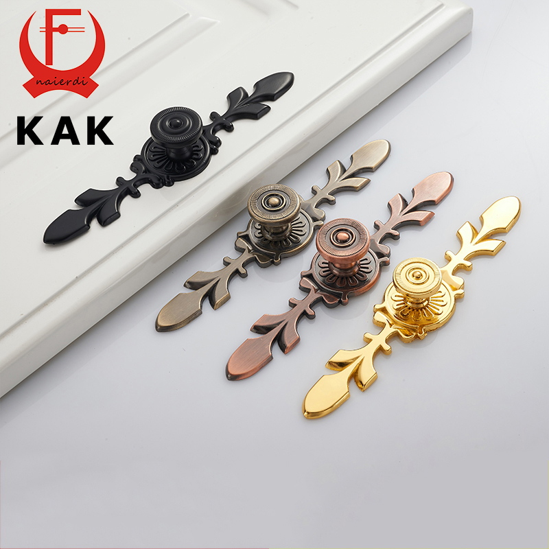 KAK 170MM Black Bronze Gold Handles Zinc Alloy European Pulls Knobs For Door Cupboard Wardrobe Furniture Drawer Cabinet Hardware