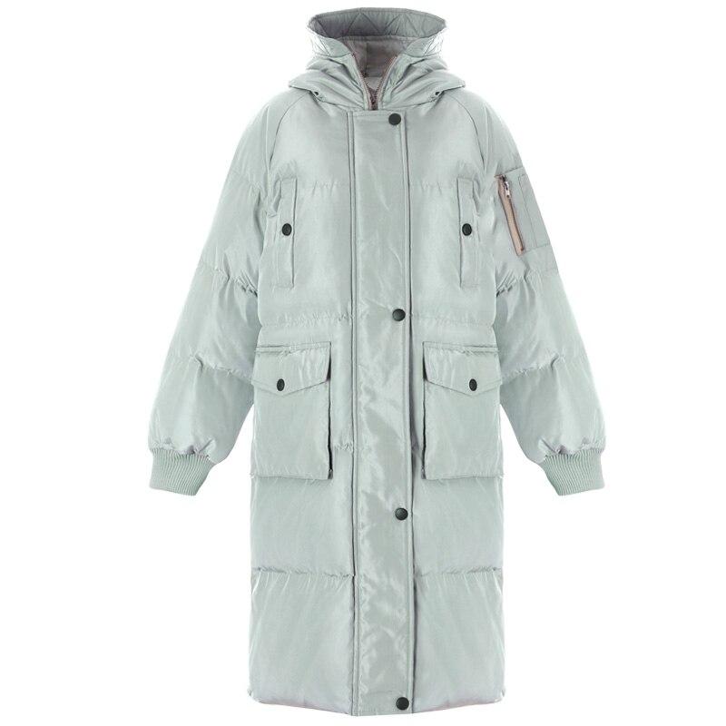 Women winter coat Thickened   parka   women pocket slim long winter coat down cotton ladies down   parka   down jacket women tops