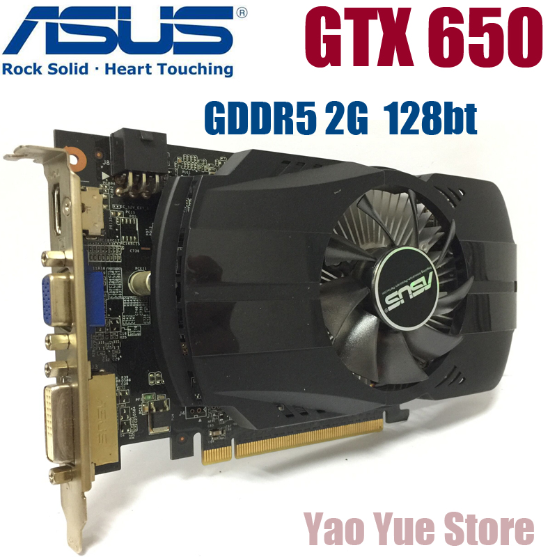 Asus GTX-650-FMLII-2GB GTX650 GTX 650 2G D5 DDR5 128 Bit PC Desktop Graphics Cards PCI Express 3.0 computer Graphics Cards